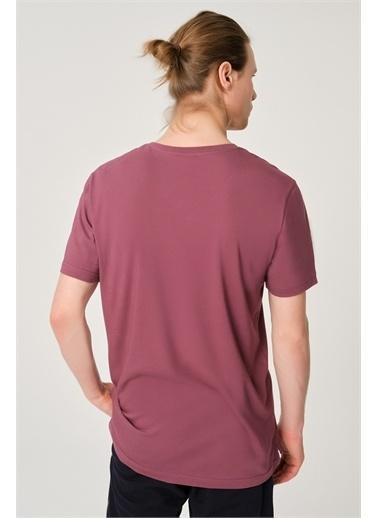Dagi Erkek Basic Antrasit Pamuk V Yaka T-Shirt Bordo